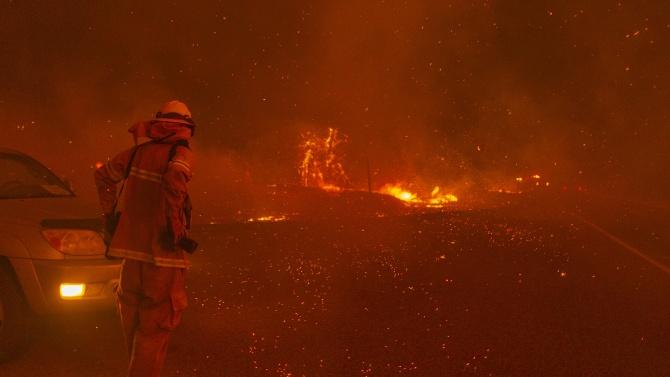 Най-малко 33 човека са загинали при горските пожари, които бушуват