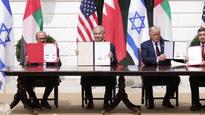 Израел, ОАЕ и Бахрейн подписаха исторически споразумения за нормализиране на отношенията на церемония в Белия дом