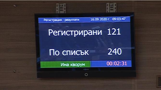 Парламентът събра кворум, БСП и ДПС не се регистрираха