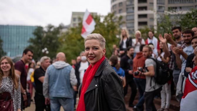 Беларуските власти повдигнаха обвинения на опозиционерката Колесникова
