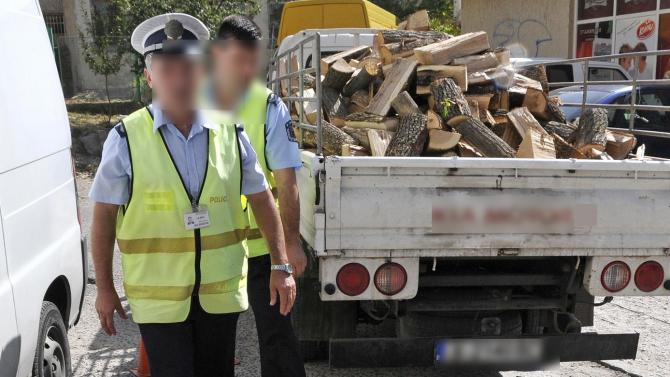 Хванаха товарен автомобил с незаконни 12 кубика дърва за огрев
