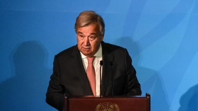 Антониу Гутериш: Пандемията върна с 25 години назад напредъка на ООН