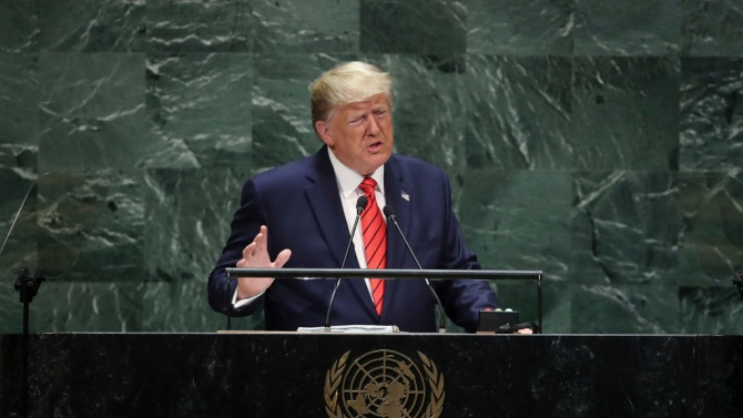 Тръмп пред ООН: Китай трябва да бъде държан отговорен за пандемията от коронавирус