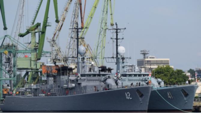 Новопридобитите минни ловци за Военноморските сили на Република България днес,