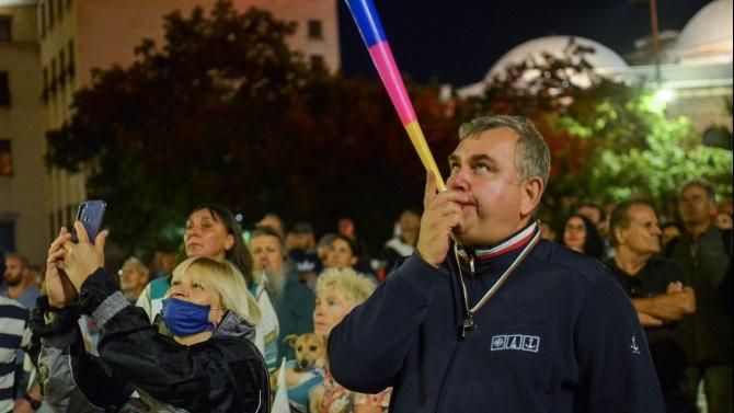 Два протеста в София тази вечер - антиправителствен и срещу Гешев. Пред НДК се състоя контрапротест