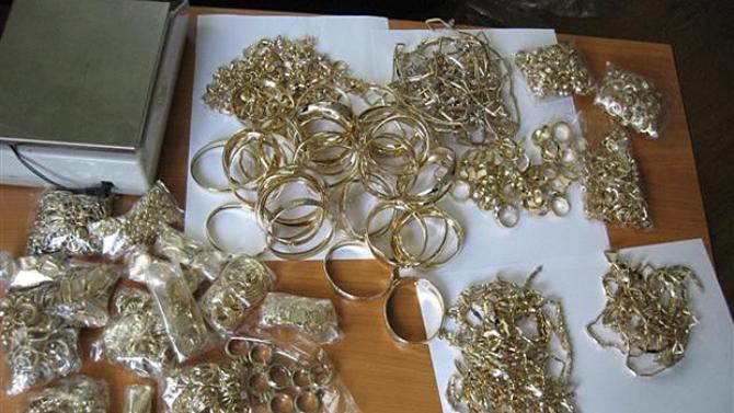 Митничари иззеха контрабандни златни накити за над 90 000 лв.
