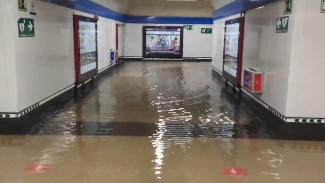 Метрото в испанската столица се оказа буквално под вода след