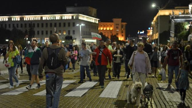Започна 80-та вечер на антиправителствени протести в София. Без напрежение