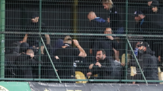Масов бой на мача Ботев (Пд) - Левски, над 40 души са арестувани