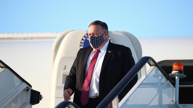 Държавният секретар на САЩ Майк Помпейо пристигна в Солун