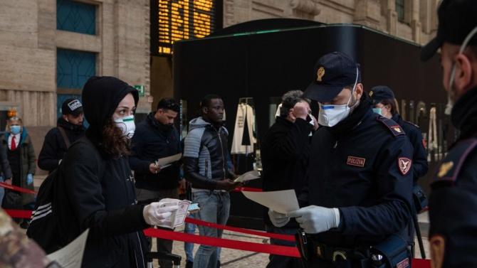 На много места в Италия затягат мерките срещу коронавируса