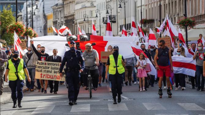 Над 500 души са задържани по време на протестите в Беларус през уикенда
