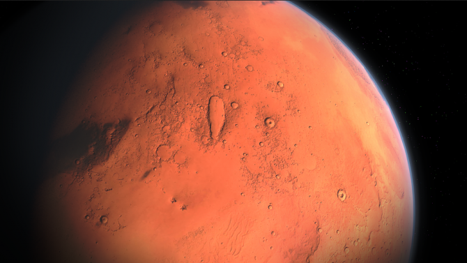 Откриха система от солени езера под ледници на Марс