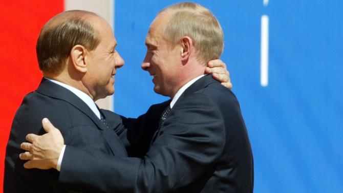 Путин пожела на Берлускони крепко здраве