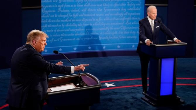 Тръмп и Байдън дебатираха по трънливия въпрос за расизма в САЩ
