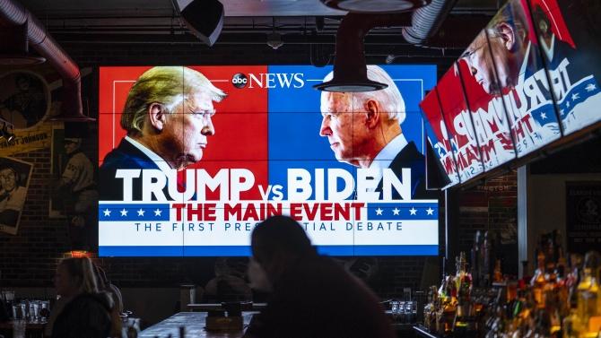 Според допитвания на две американски медии Байдън е надделял в дебатите с Тръмп