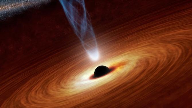 """Астрономи откриха свръхмасивна черна дупка, """"пленила"""" 6 галактики"""