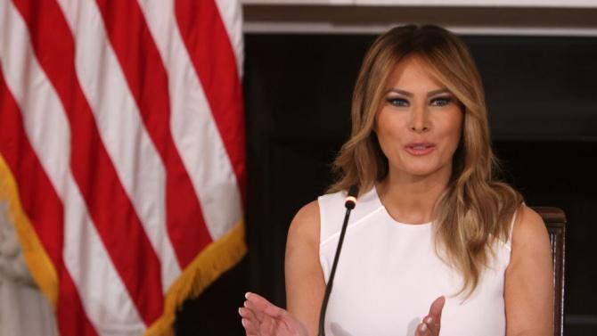 Първата дама на Съединените щати Мелания Тръмп Мелания Кнаус е