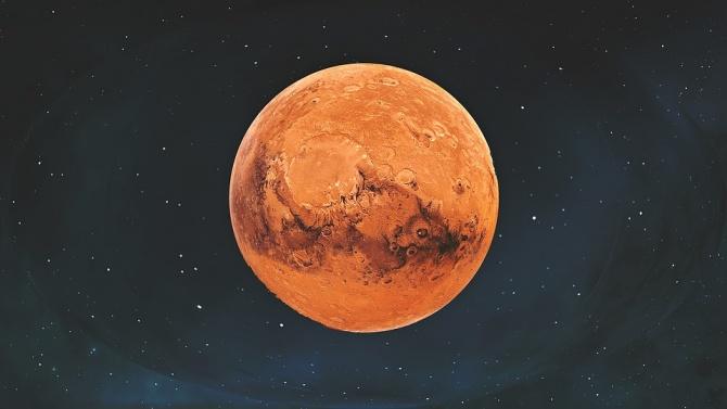 Марс се приближи рекордно до Земята