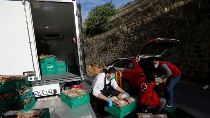 БЧК започна раздаването на хранителни помощи