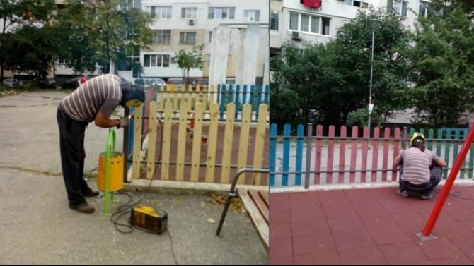 Ремонтират детски площадки в Район Студентски