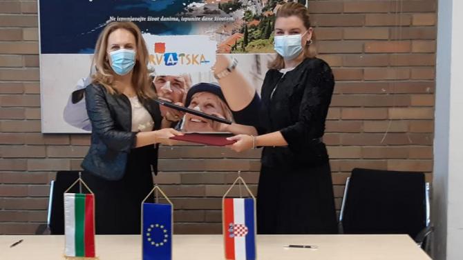 Марияна Николова и хърватският ѝ колега подписаха Меморандум за сътрудничество