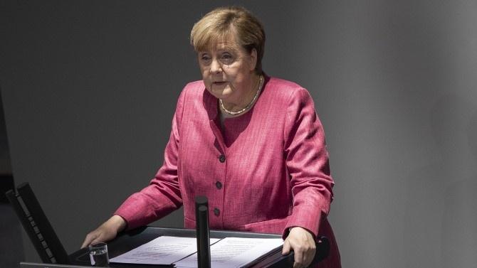 Канцлерът на Германия предупреди днес, че разпространението на коронавируса в