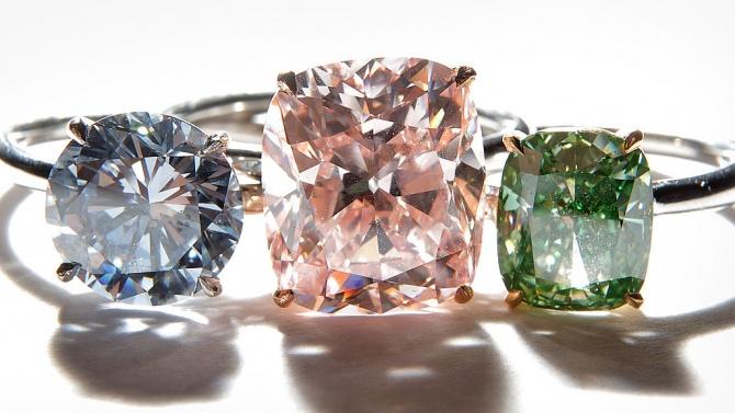 Продават на търг рядък цветен диамант