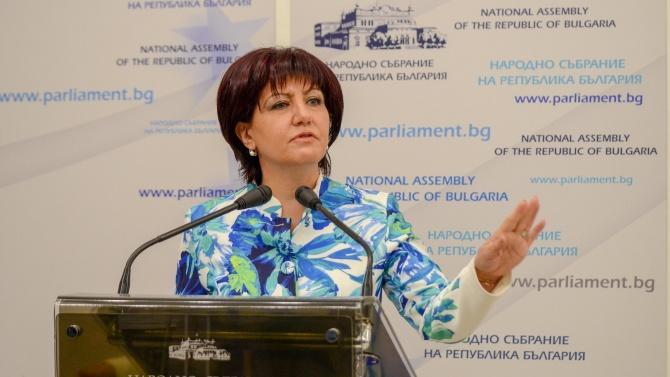 Очаква се депутатите да гласуват оставката на Цвета Караянчева