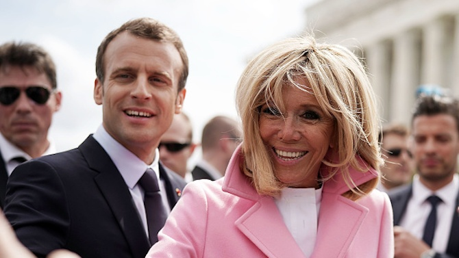 Френската първа дама Брижит Макрон ще се самоизолира за седем