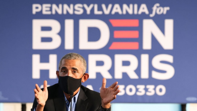 Барак Обама подкрепи лично Джо Байдън на митинг в Пенсилвания