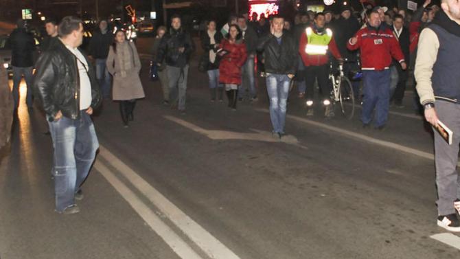 """Жители на квартал """"Дървеница"""" блокираха кръстовището на столичните булеварди """"Андрей"""