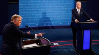 Финалният президентски дебат Тръмп-Байдън е привлякъл 63 милиона телевизионни зрители