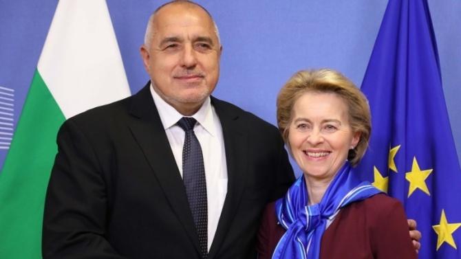 Фон дер Лайен пожела бързо възстановяване на Борисов