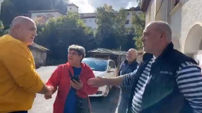 Борисов се ръкува с много хора в Широка лъка, потвърди кметът на селото
