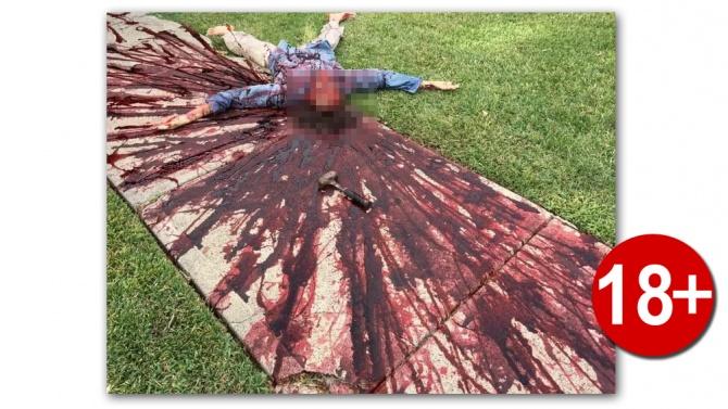 Ужасяваща Хелоуин украса разкарва полицията няколко пъти