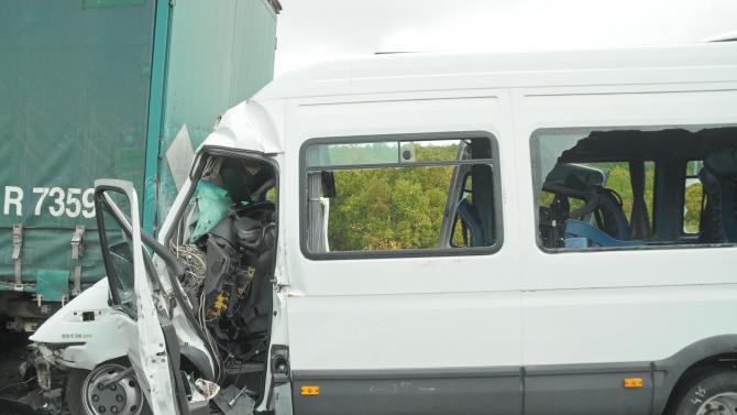 Катастрофа на пътя Русе-Бяла, има ранени
