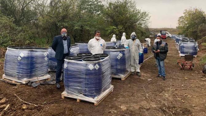 Теч на вода беше открит в склад със загробени пестициди в град Искър