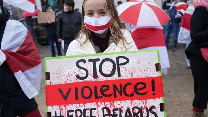 Хиляди протестираха в Беларус след смъртта на демонстрант, арестуван от полицията