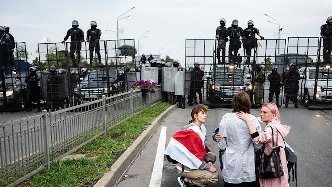 Повече от 700 души бяха задържани след протест на опозицията в Беларус