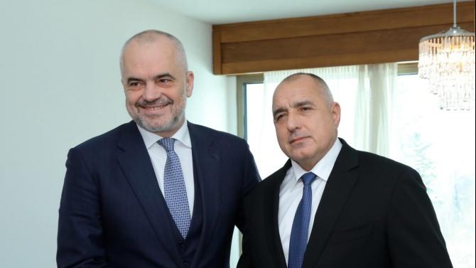 Премиерът Борисов пред Еди Рама: Албания има нашата подкрепа за ЕС