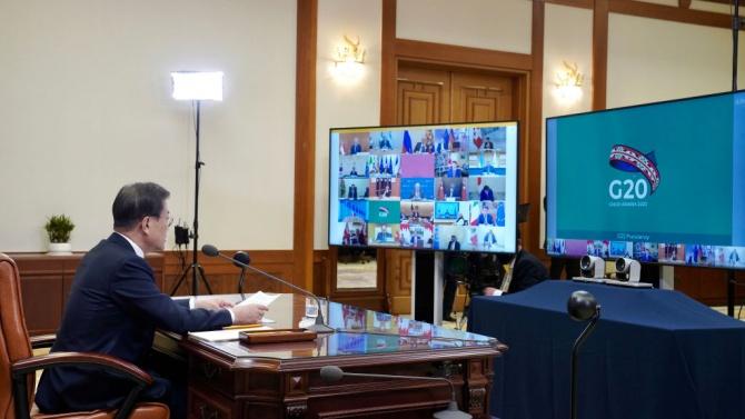 Срещата на Г-20 започна с призиви за единен отговор срещу коронавируса