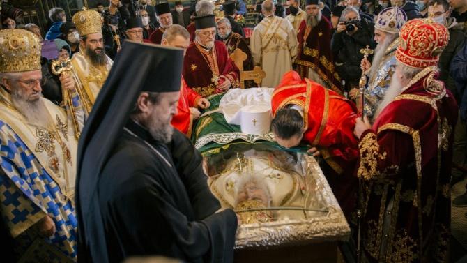Погребаха сръбския патриарх Ириней