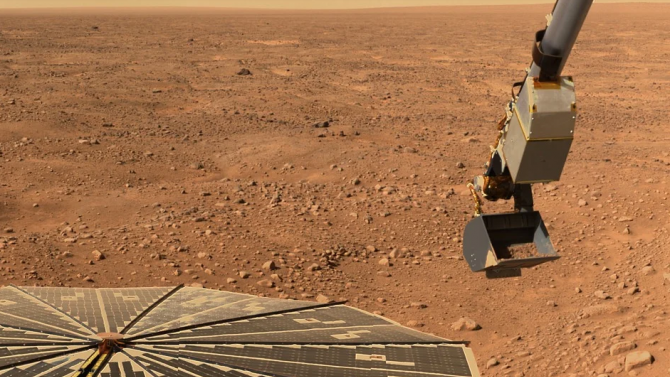 """Марсоход откри следи от древно """"меганаводнение"""" на Червената планета"""