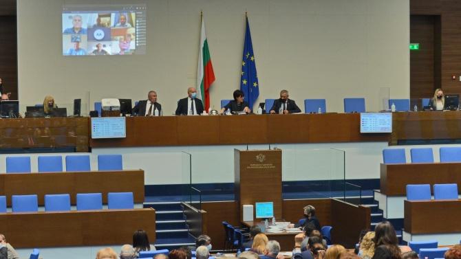 Парламентът одобри бюджетите за отбрана, полиция и външни работи