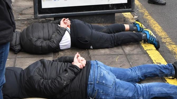 Арести на снощния протест в София заради опит за саморазправа