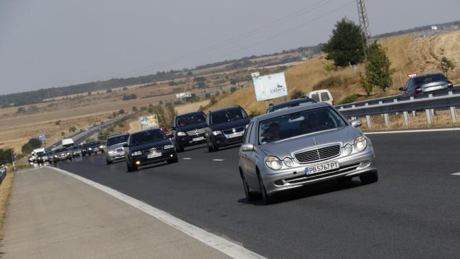"""Движението от км 60 до км 70 на АМ """"Тракия"""" - в посока Бургас, временно ще е в една лента"""