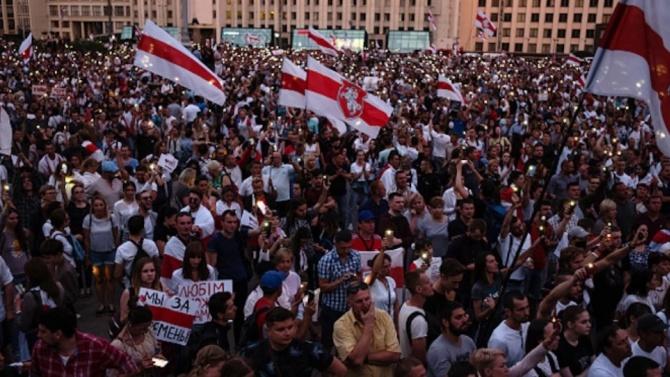 330 са задържаните в Беларус по време на антиправителствени протести