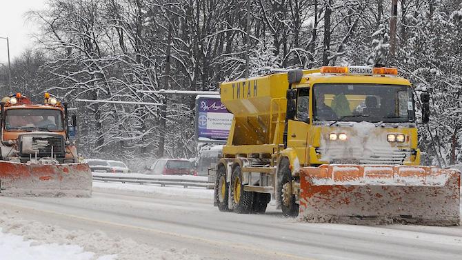 Частично заледяване на пътя Търговище - Разград наложи допълнителна обработка