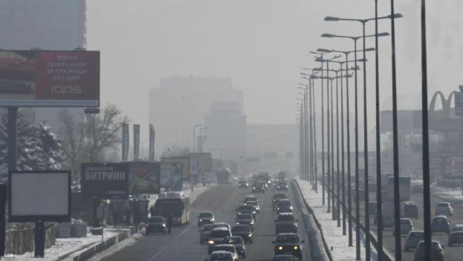 """Комбинация от мръсен въздух и мъгла над """"Цариградско шосе"""" днес по обяд"""